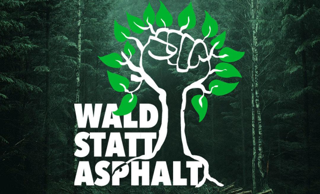 "PM 20.08.2020: Performance zum Aktionstag ""Wald statt Asphalt"""