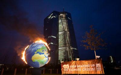 Flammender Protest gegen die Geldpolitik der EZB